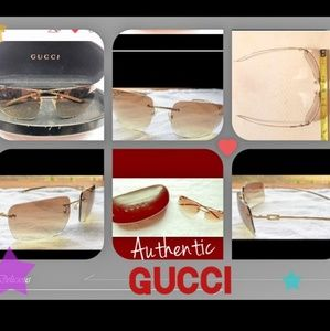 Authentic Gucci rimless shades